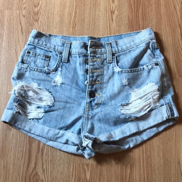 Carmar Pants - blue denim shorts